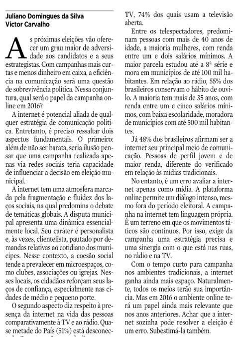 21 de novembro de 2015, p. 8, seção Opinião JC